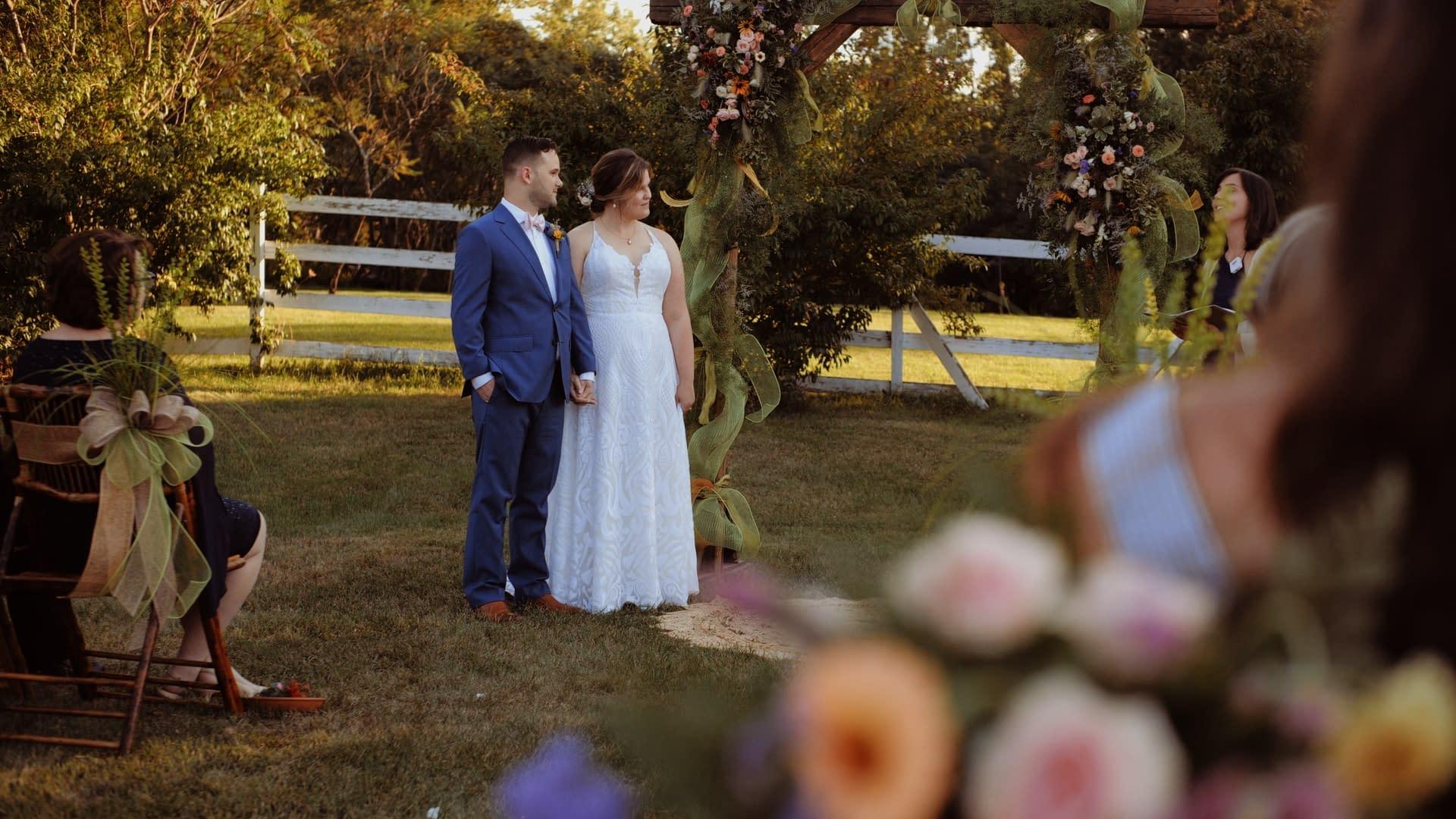 boston wedding beautiful sunset